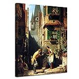 Bilderdepot24 Kunstdruck - Alte Meister - Carl Spitzweg - der ewige Hochzeiter - 30x40cm Einteilig - Leinwandbilder - Bilder als Leinwanddruck - Bild auf Leinwand - Wandbild