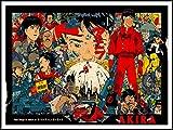 imagenation Akira 'Collage'?60cm x 80cm impresión en láminas autoadhesivas papel Póster