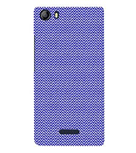 Small Lines Chevron Blue Pattern 3D Hard Polycarbonate Designer Back Case Cover for Micromax Canvas 5 E481