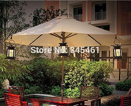 Generic Yellow, China : 4X Outdoor Solar Power Twinkle Yellow LED Candle Light Yard Garden Decoration Solar Umbrella Tree Lantern Hang Hanging Lamps
