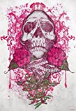 empireposter Miami Ink Pink Rose Skull Foto-Tapete 2-teilig - Fototapete Wallpaper 232x158cm. Beigelegt sind eine Packung Kleber und eine Klebeanleitung.