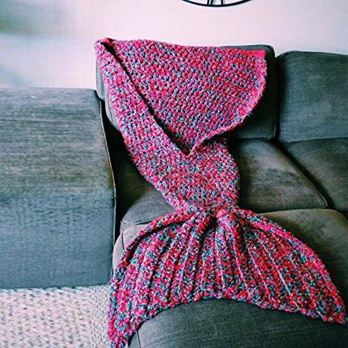 Knitting Pattern Mermaid Tail Blanket For Kids And Adults Oddshopper