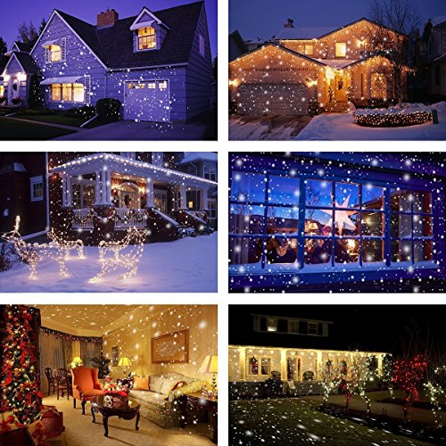 Proiettore Luci Natale Bianche.Led Proiettore Luci Natale Nuova Versione Camtoa Proiettore