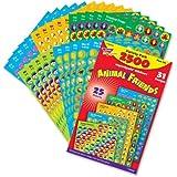 2500 x SuperSpot Animal Friends Sticker Variety Pack