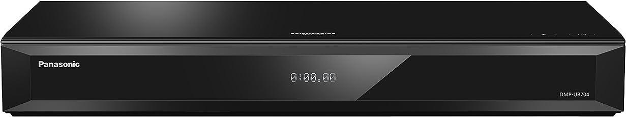 Panasonic DMP-UB704EGK Ultra HD Blu-Ray Player (4K Blu-Ray Discs, 4K VoD, DLNA, VOD, 2X HDMI, USB, SD-Karte) Schwarz