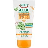 Equilibra Solari, Aloe Crema Solare Spf 20 Travel Size, Crema con Aloe Vera, Latte di Mandorle, Olio di Carota e…