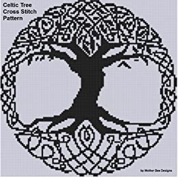 Celtic Tree Cross Stitch Pattern by [Mother Bee Designs]