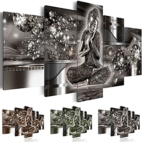 murando Image 200x100 cm (78,8 by 39,4 in) - 3 colours to choose - Image printed on canvas - wall art print - Picture - Photo - 5 pieces- Buddha h-A-0053-b-p 200x100 cm