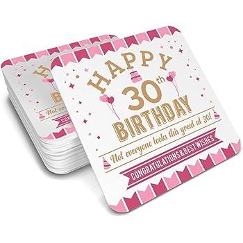 30th Birthday 1988 Keepsake Coaster For Women Coffee Or Tea Mug Gift Idea Present