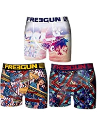 "Boxer Freegun homme fantaisie "" Old School""- Pack de 3"