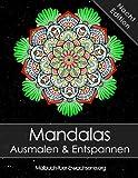 Mandala Malbuch für Erwachsene: Mandalas auf schwarzem Hintergrund Ausmalen und Entspannen (Stressabbau) + BONUS 60 kostenlose Malvorlagen zum Ausmalen (PDF zum Ausdrucken)