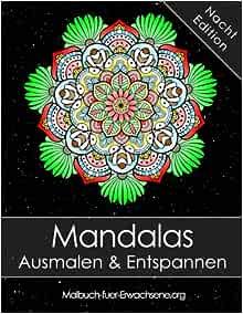 Amazon Fr Mandala Malbuch Fur Erwachsene Mandalas Auf Schwarzem