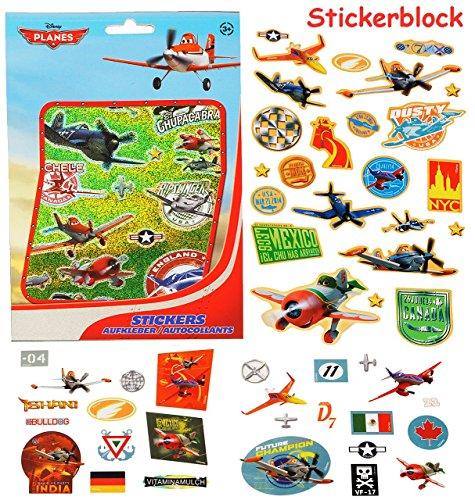 alles-meine.de GmbH 100 TLG. XL Set - Aufkleber / Sticker -  Disney Planes - Flugzeuge / Dusty  - selbstklebend - Stickerblock - für Mädchen & Jungen - Flugzeug - Stickerset Ki.. (Disney Scrapbook-papier Cars)