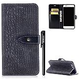 Huawei P10 Hülle Leder,BtDuck Hülle Leder Grau Schutzhülle Magnet Stand Flip Case Dünn Slim Brieftasche Tasche Kartenfach Weich Silikon Cover Inner Handyhülle für Huawei P10