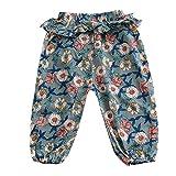 Brightup Baumwolle und Leinen Klimaanlage Hosen Mädchen Rüschen Hosen Kinder Moskito-Proof Pants Printed Sommer Pumphose