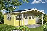 Gartenhaus GORBEA A 70 ISO Blockhaus 500x400cm 70mm Blockhaus Holzhaus