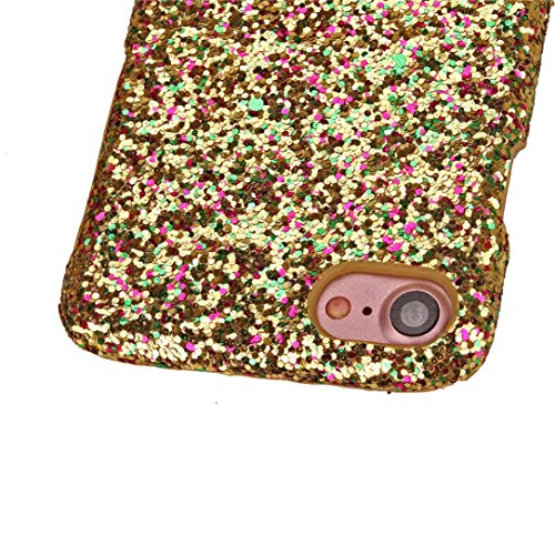 Ouneed® Hülle für iphone 7 4.7 Zoll , Fashion Luxurious Glittering Slim Hard Back Case Cover für iPhone 7 4.7 Zoll (4.7 Zoll, Heißes Rosa) Gold