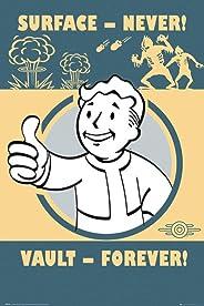 empireposter Fallout 4 Vault Forever-Game videospel, poster, affiche met afmeting 61x91,5 cm, papier, kleurrijk 91,5 x 61 x