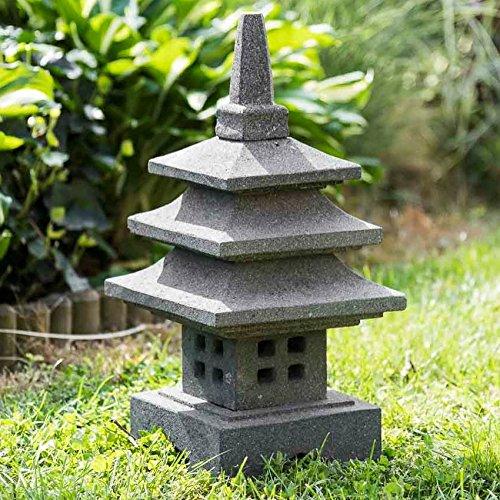 Linterna japonesa de piedra de lava 50 cm decoración zen