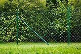 Maschendrahtzaun Zaun Gartenzaun Komplettset Zaunsatz 15 x 1,25 m grün geprüft
