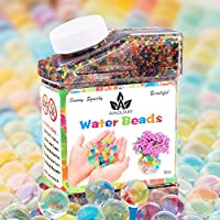 AINOLWAY Water Beads,9OZ (Over 40,000pcs) Crystal Balls Growing Magically for Sensory Kids Games Playing