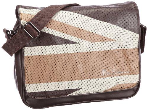 Preisvergleich Produktbild Ben Sherman Union Jack Messenger bag MH00002,  Unisex - Erwachsene Messengerbags,  Braun (BROWN 7),  35x30x11 cm (B x H x T)