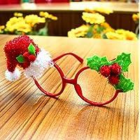 Zdan.uu Navidad Ornamento Navidad Dibujos Animados Niño Gafas Adultos Marco Regalo de la Fiesta de Navidad (Christmas Hat)