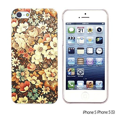 OBiDi - Flower Pattern Hardback Case / Housse pour Apple iPhone SE / Apple iPhone 5S / 5 - Colorful Flowers With Birds Retro Flower