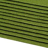 Schnoschi 12 Filzplatten Bastelfilz Filz grün 2-3 mm dick DIN A4 20x30 cm