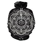 Unisex Paare Mandala Kapuzenpullover 3D Printed Schnell trocknend Sweat Shirt Langarm Hoodie Taschen Top WY-210