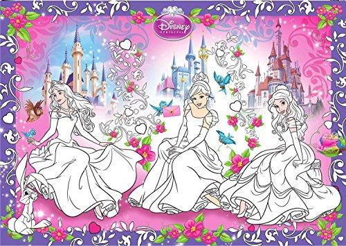 BoMaBi BM-PRINCESS-01 - Disney Princess XXL Ausmalposter, inklusiv passendem Stifteset (1. Geburtstag Princess Disney)