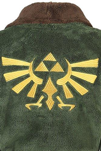 334999965d87 Die Beste Zelda Logo Bademantel grün braun Die Beste