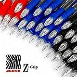 z-grip penna a sfera a scatto–Confezione risparmio da 40, colore: Nero, Blu e Rosso