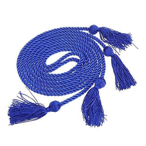 Amosfun Graduation Honor Cord Quasten Cord Polyester Bachelor Kleid Honor Cord für Abschlussfeier (blau) -