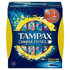 Tampax Compak Pearl Regular Tampons 18 per pack (PACK OF 6)