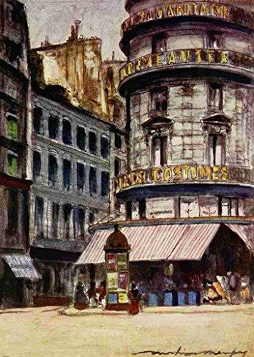 a4-photo-menpes-mortimer-1855-1938-paris-1909-la-samaritaine-print-poster