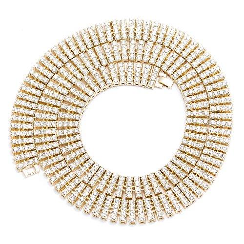 herren-4-reihen-quadratisch-16-mm-762-cm-gold-vergoldet-klar-iced-out-pharao-hip-hop-bling-kette-hal