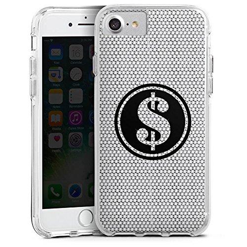 Apple iPhone 6s Bumper Hülle Bumper Case Glitzer Hülle Dollar Glitzer Glitter Bumper Case transparent