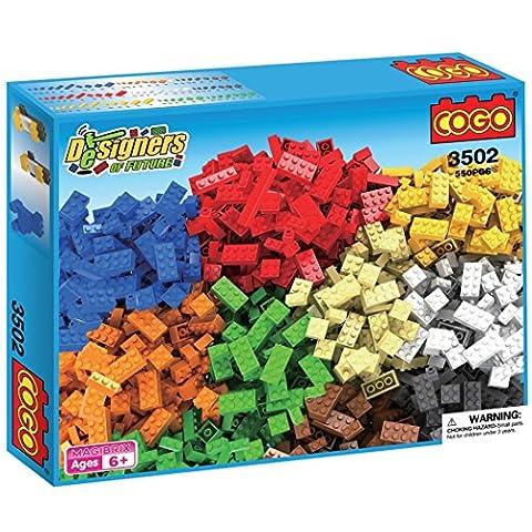 COGO 3502C 550 Pcs Girls Blocks Boys Blocks Classic Large Creative Colorful Building Brick Box Boys Blocks Girls Blocks Birthday Gift Educational Toys Compatible with LEGO or
