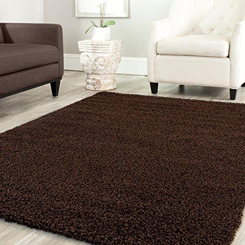 Farben U0026 Größen: Braun 80x150, Teppich Home Star Shaggy Teppich Farbe  Hochflor Langflor Teppiche Modern Für Wohnzimmer Schlafzimmer Uni Farben