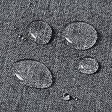 WOLTU TD3043gr Tischdecke Tischtuch Leinendecke Leinen Optik Lotuseffekt Fleckschutz Pflegeleicht abwaschbar schmutzabweisend Farbe & Größe Wählbar Eckig 130x220 cm Grau - 2