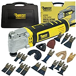 SabreCut SCMTK400 400W Oscillating Multitool with 39 Mixed Accessories Included (BS Plug)