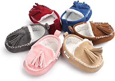 TMEOG Hiver Chaud Chaussures B/éb/é Chaussons B/éb/é Premiers Pas Semelle Souple B/éb/é Fille Gar/çon