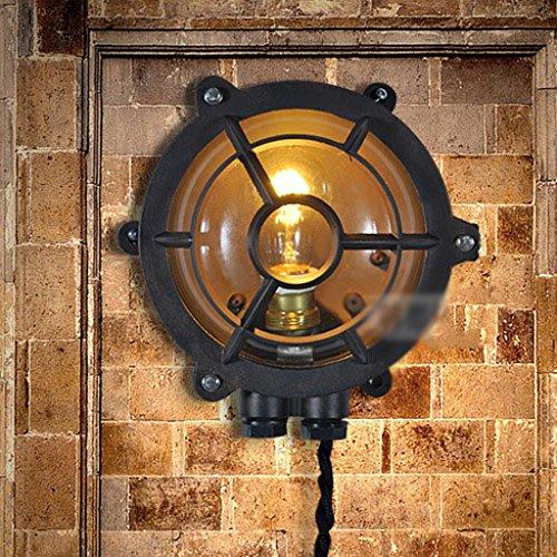 MEILING Retro industrielles Licht-Kaffeestube-Stab-Dekoration-Loft-Licht-Tabellen-Lampe-Wand-Lampen-Deckenleuchte ( Farbe : Wall Lamp ) (Schmiedeeiserne Stab)