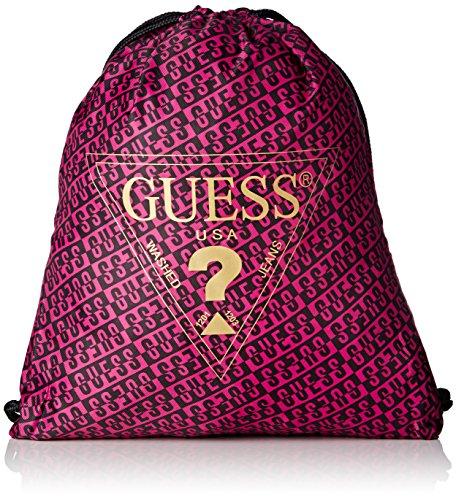 Guess Bag Hoody Cropped Fleece Active - Bolso de asas para mujer Varios Colores Multicolore (Guess Attitude)