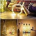 6 pack Flaschenlicht, Amteker Weinflaschen Lichter 1M 20 LED Kork Lichter, Kupferdraht Flaschenbeleuchtung für DIY, Party, Dekor, Weihnachten, Halloween, Hochzeit (Warmes Weiß)