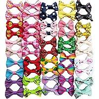 Lazos para pelo de mascotas Chenkou Craft 50 piezas/25 pares, productos de cuidado para perros, de colores y patrones mezclados