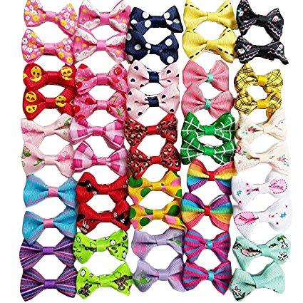 Lazos para pelo de mascotas Chenkou Craft 50 piezas/25 pares, productos de...