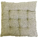 "Story@Home Square Jute Chair Pad - 14""x14"", Grey"