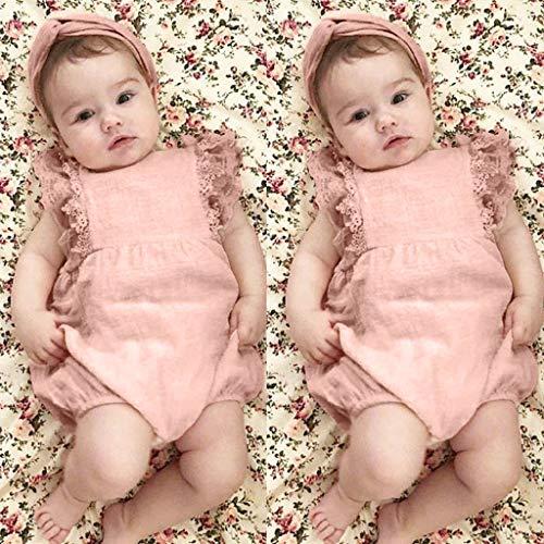 Mitlfuny Unisex Baby Kinder Jungen Zubehör Säuglingspflege,Säuglingskinderbaby-Spitze gekräuselten ()